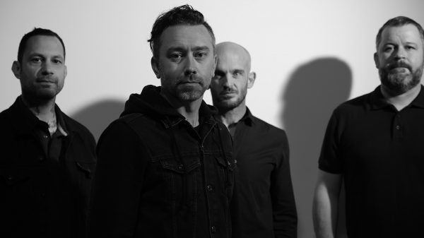 Rise Against, L-R: Joe Principe, Tim McIlrath, Zach Blair, Brandon Barnes Photo credit: Wyatt Troll