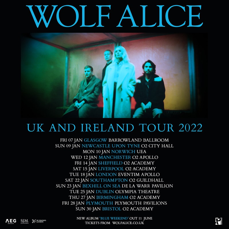 Wolf Alice - 2022 UK + Ireland tour