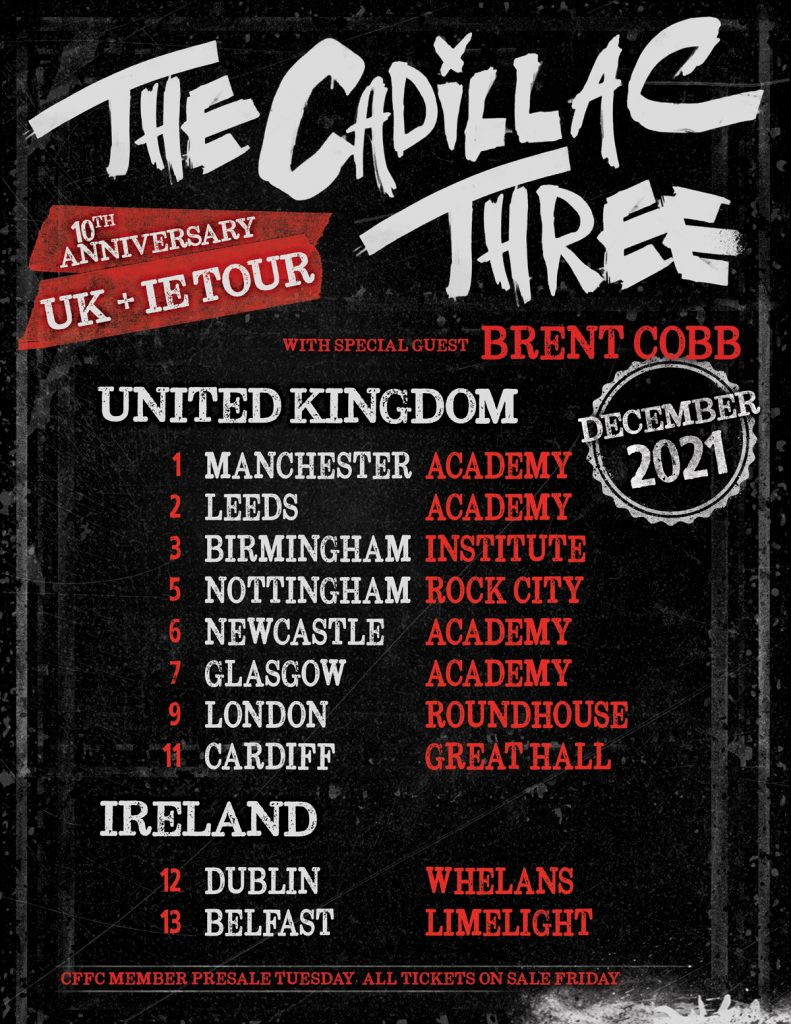 The Cadillac Three UK tour dates 2021