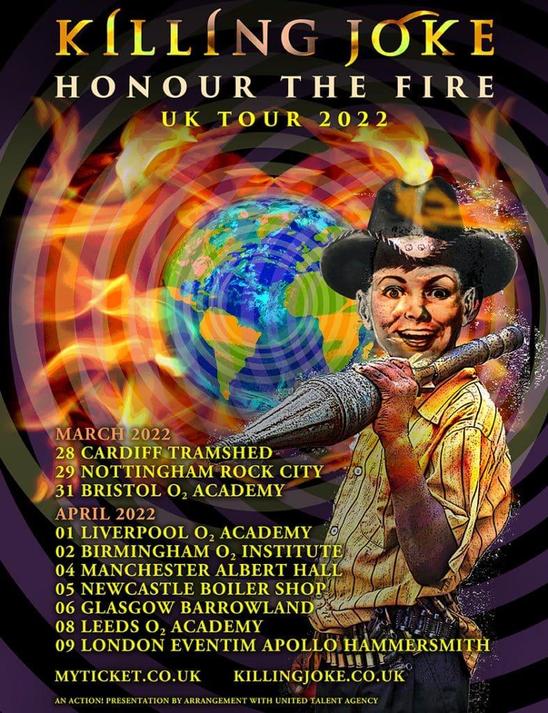 Killing Joke - Honour The Fire UK tour