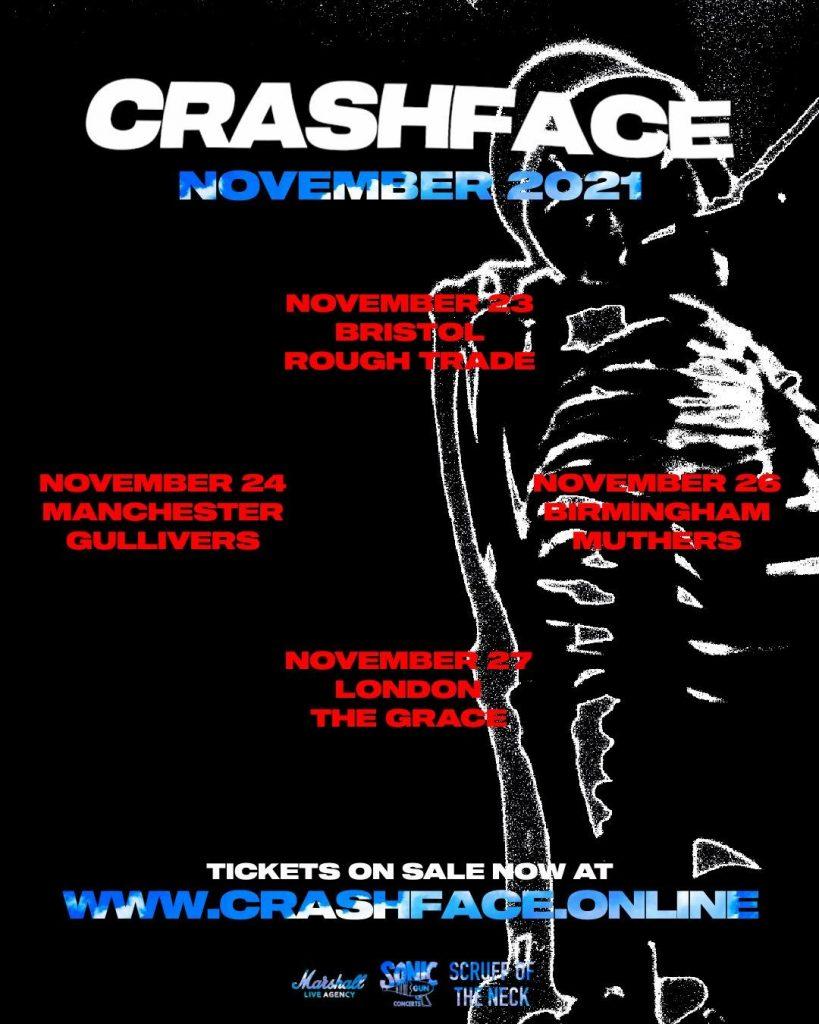 CRASHFACE - TOUR DATES 2021