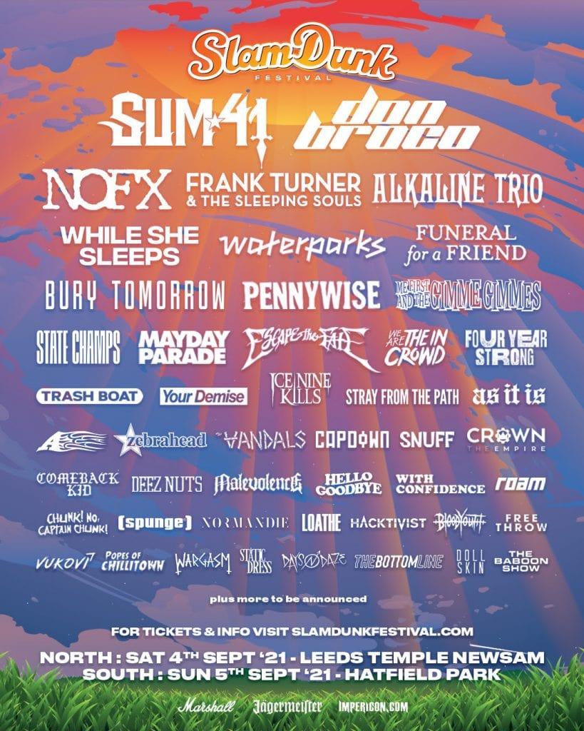 Slam Dunk Festival 2021 Line up